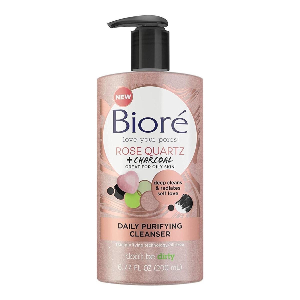 Bioré Rose Quartz + Charcoal Daily Purifying Cleanser