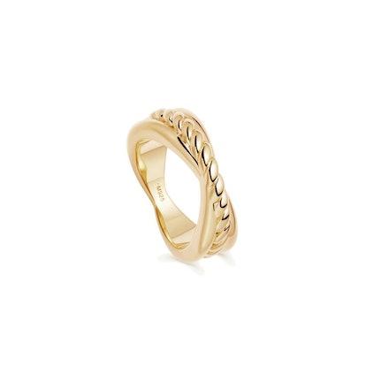 Gold Twist Radial Ring