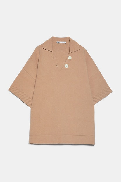 Polo Collared Knit Sweater