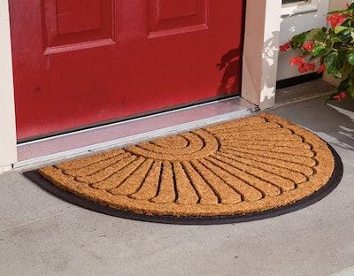 Kempf Coco Fiber Half Round Inlaid Doormat