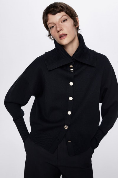 Knit Jacket With Buttons