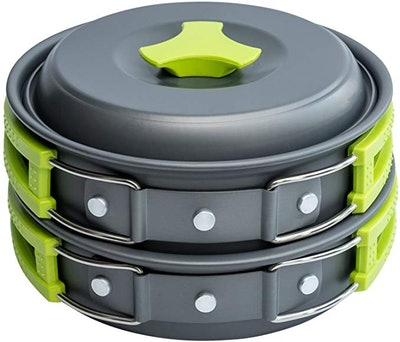 MalloMe Camping Cookware Mess Kit (10 Pieces)