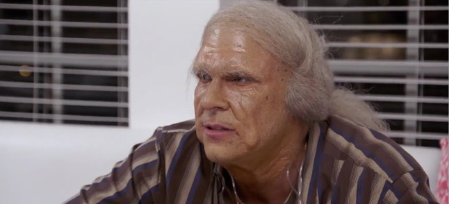 Jax dressed as an old man on Vanderpump Rules.