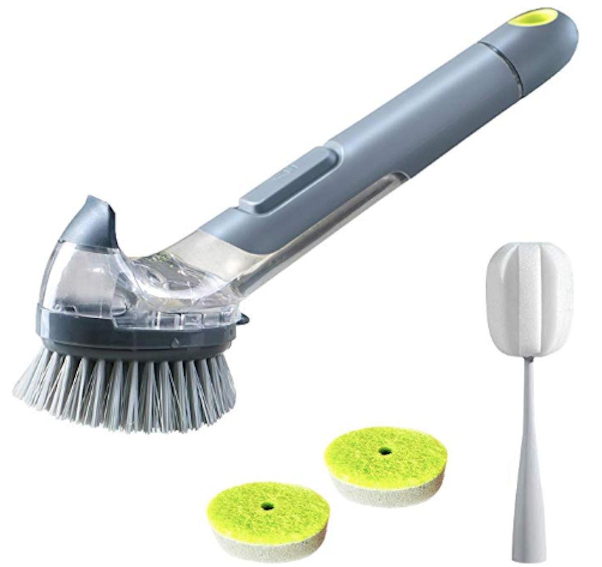 JEHONN Dish Brush with Soap Dispenser