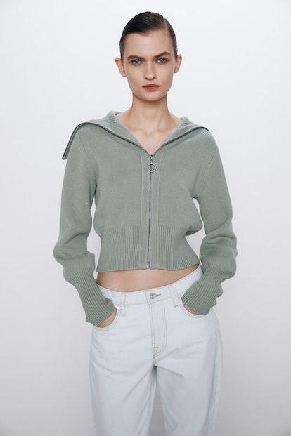 Zippered Knit Jacket