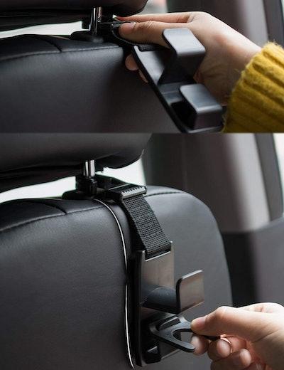 Heroway Magic Headrest Hooks for Car (4-Pack)