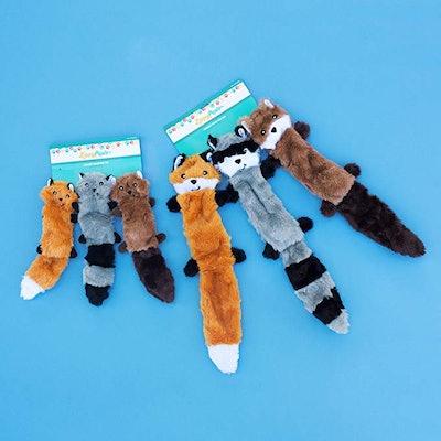 ZippyPaws Skinny Plush Dog Toy (3-Pack)