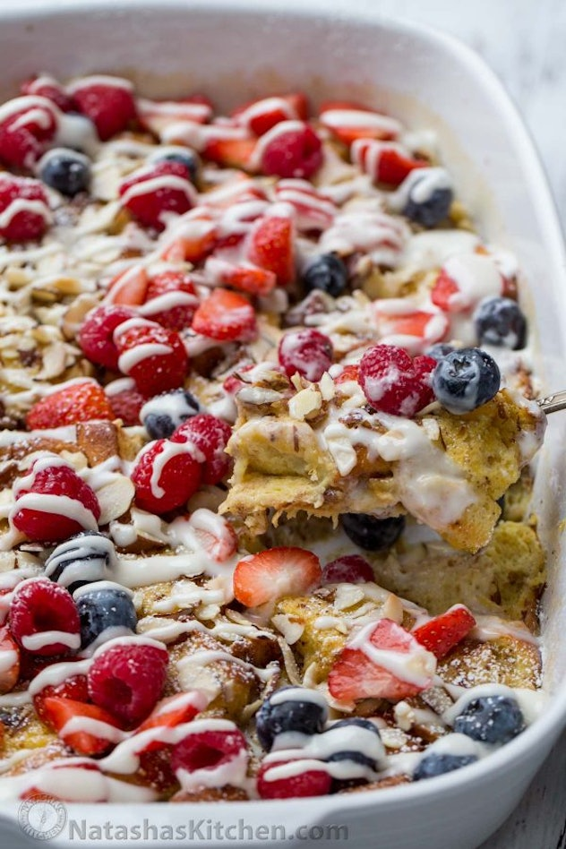 Again, make-ahead breakfasts are always winners, and this French toast casserole is especially easy to make in advance.