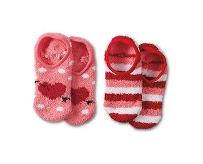 Serra Ladies' 2-Pack Cozy Footie Socks