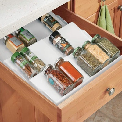 mDesign Expandable Plastic Spice Rack (2-Pack)