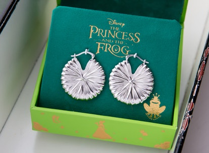 Disney's The Princess and the Frog Lily Pad Hoop Earrings