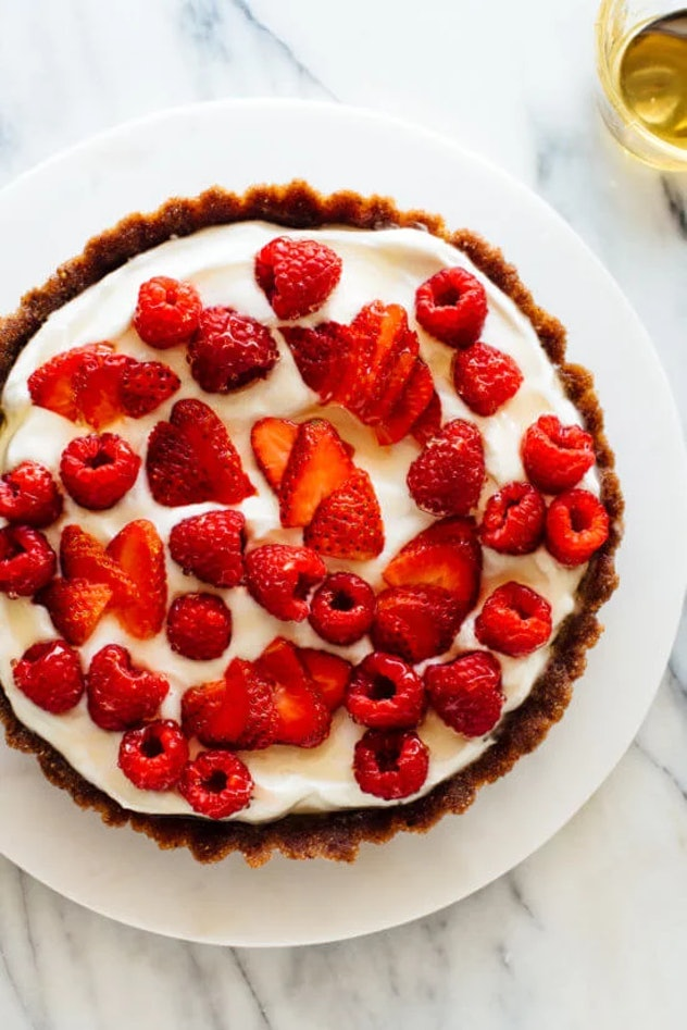 A tart always looks pretty, but on Valentine's Day, it's an especially festive breakfast.