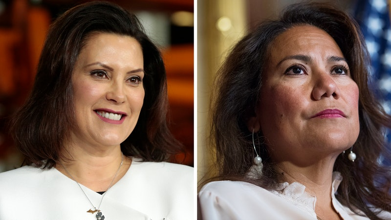 Michigan Governor Gretchen Whitmer (left) and Representative Veronica Escobar (TX-16) will deliver the Democratic responses to Tuesday's State of the Union address.