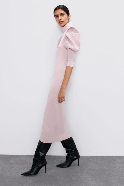 Balloon Sleeve Knit Dress