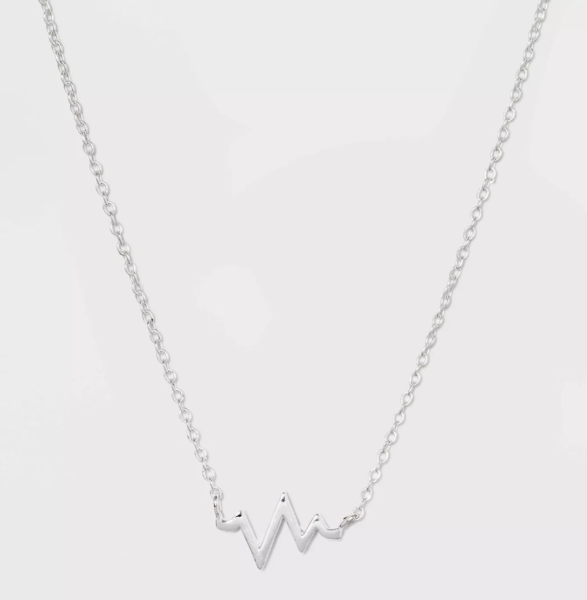 Target Sterling Silver Heart Beat Necklace