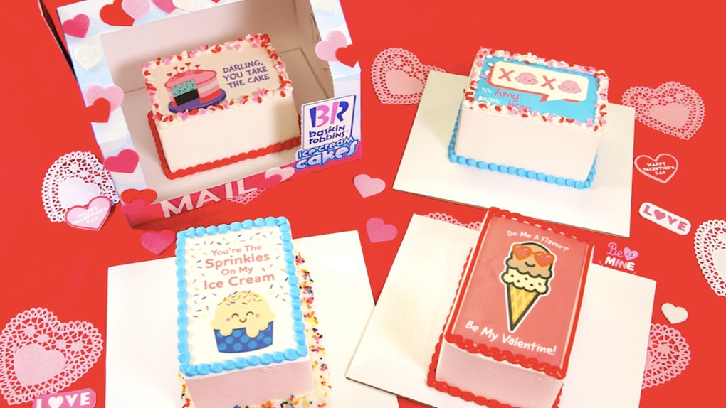 Baskin-Robbins' Valentine's Day 2020 Ice Cream & Cakes features rich flavors.