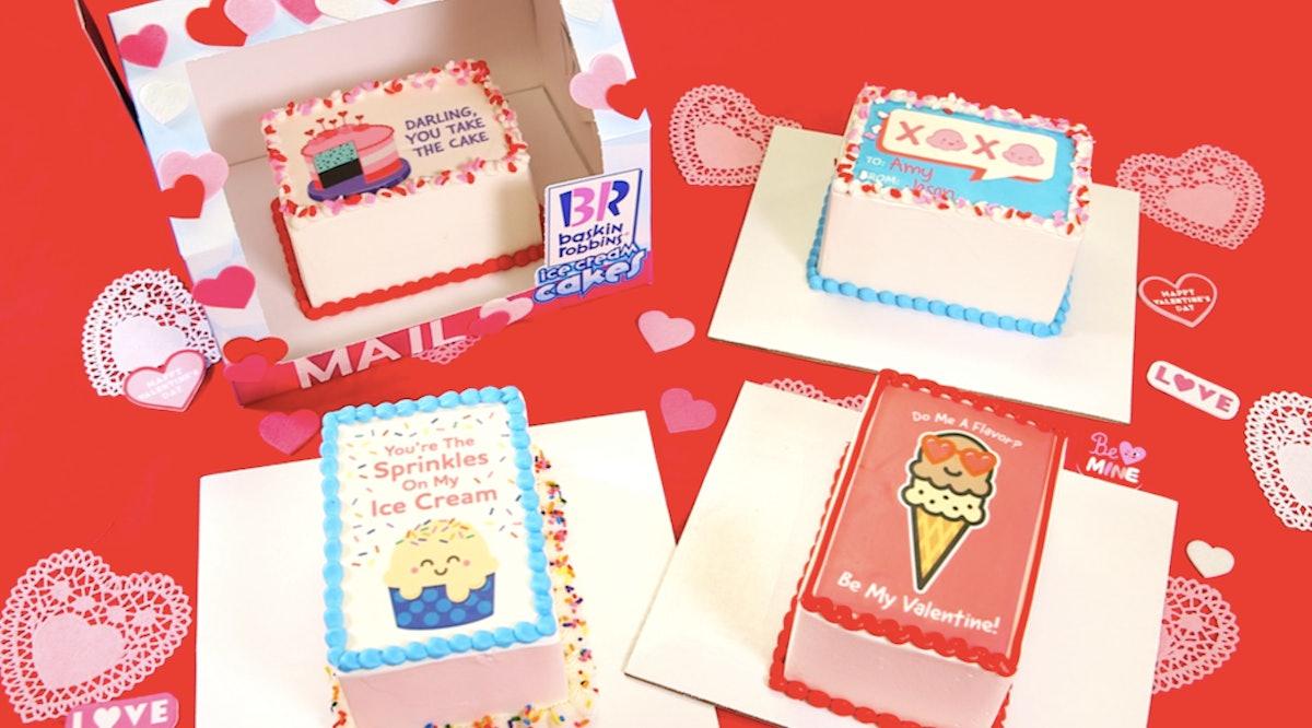 Baskin-Robbins' Valentine's Day 2020 Ice Cream & Cakes features rich flavors.