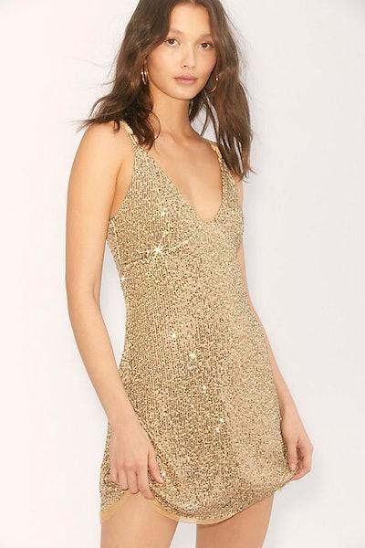Gold Rush Slip Dress
