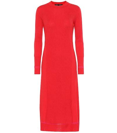 Silk and cashmere-blend dress