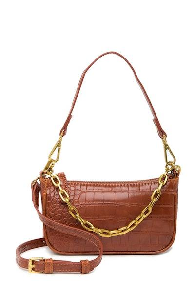 Crocodile Embossed Chain Bag