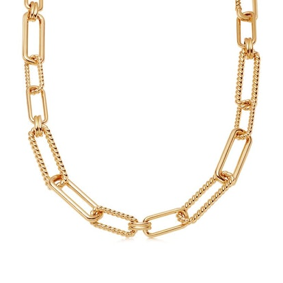 Gold Chunky Radial Chain Necklace