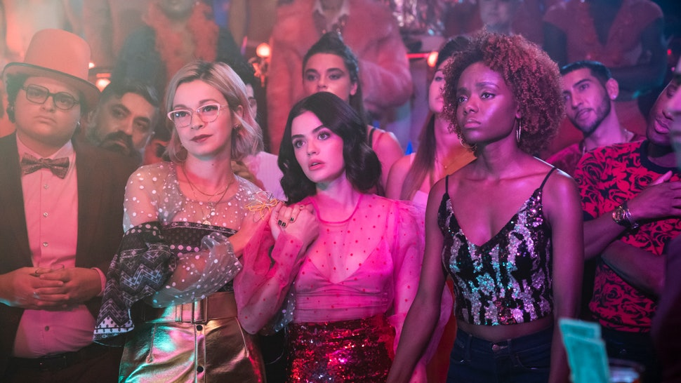 Julia Chan as Pepper Smith, Lucy Hale as Katy Keene and Ashleigh Murray as Josie McCoy in 'Katy Keene'