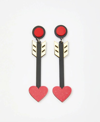 Dolls Kill Hot Love Saint Arrow Earrings