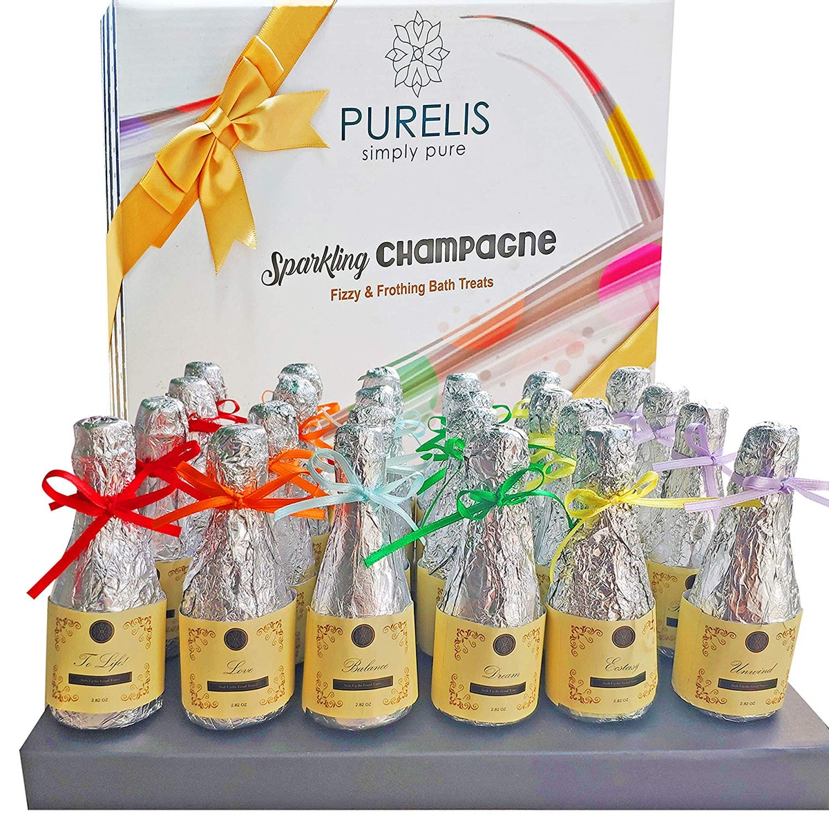 Purelis Champagne Bath Bombs (24 Pack)