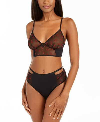 INC Women's Sheer Lips Bralette & Panty Collection