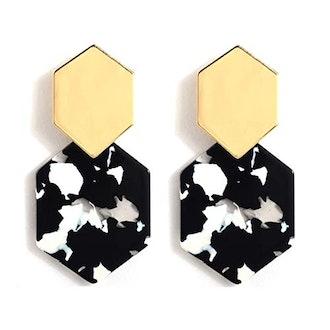Acrylic Resin Hoop Earrings by Artilady