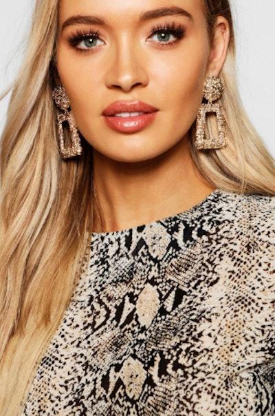 Boohoo Textured Oversized Statement Earrings