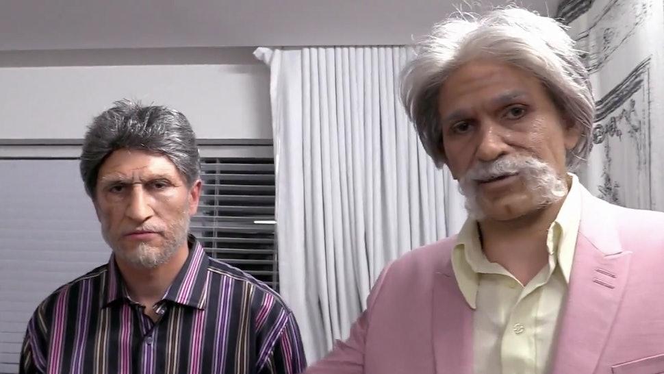 Tom Schwartz and Tom Sandoval dresses as old men in 'Vanderpump Rules.'
