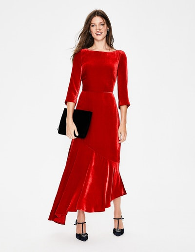 Rebecca Velvet Maxi Dress - Poinsettia