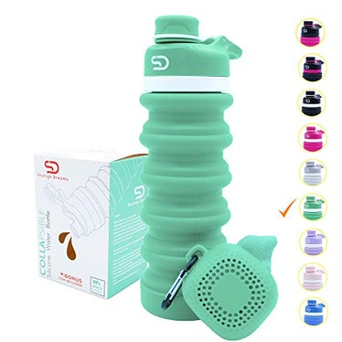 Collapsible Silicone Water Bottle by Skyhigh Dreams