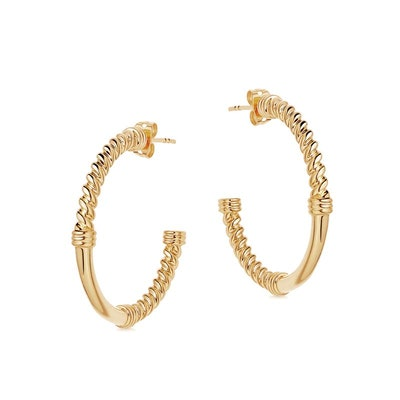 Gold Medium Cord Hoops