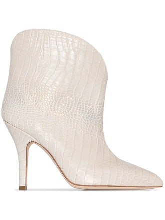 Crocodile-Effect 90mm Ankle Boots