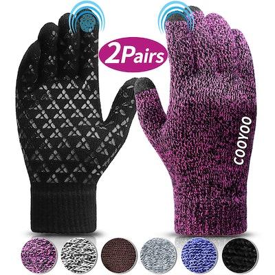 COOYOO Touchscreen Gloves, 2 pair