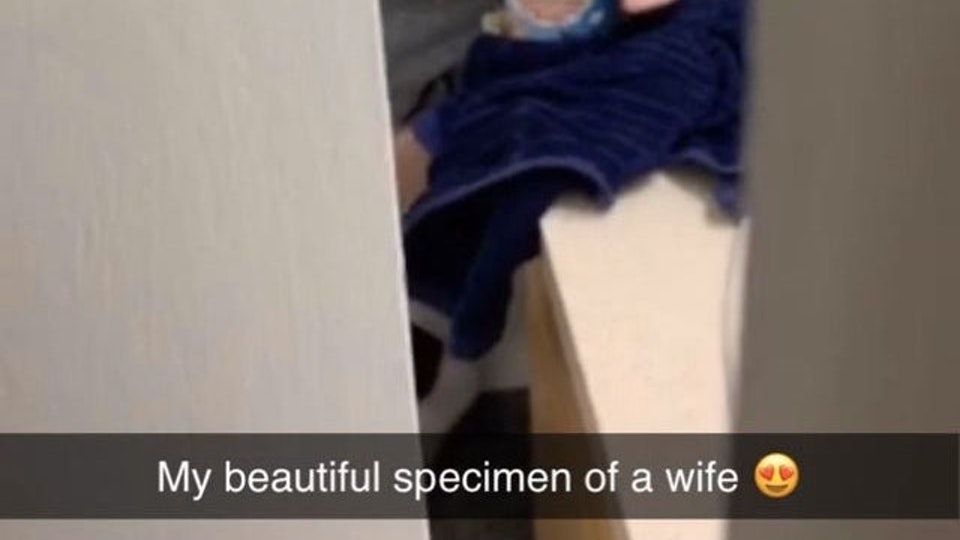 A pregnant mom was recently photographed eating ice cream in the bathroom .