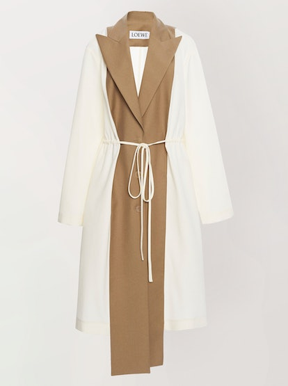 Deconstructed Belted Wool Coat
