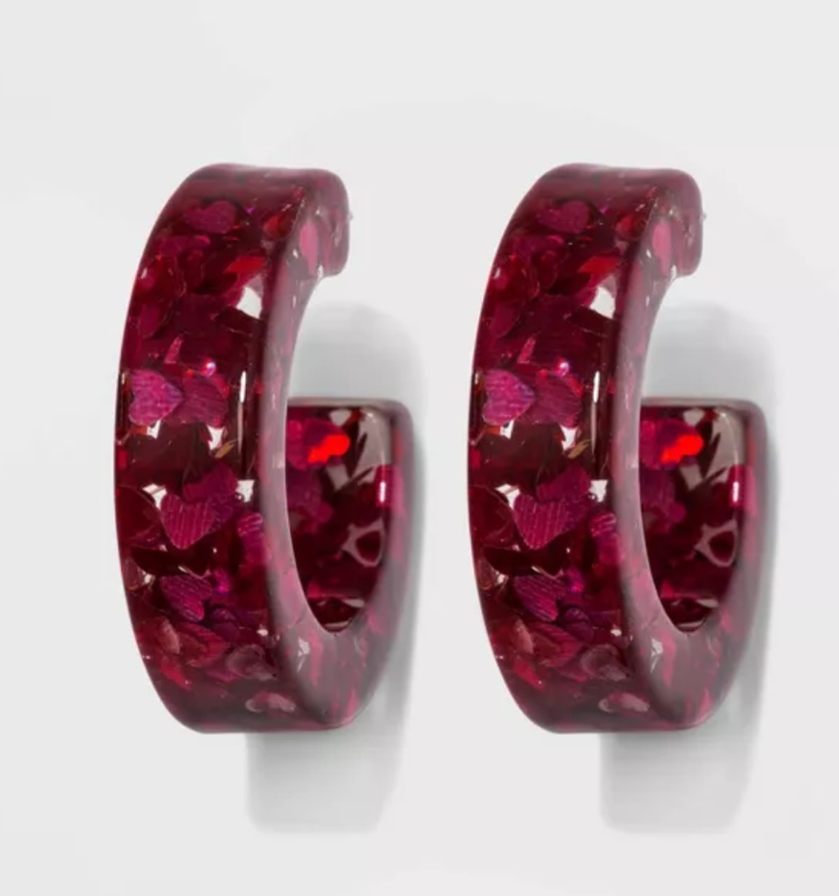 Target Wild Fable Heart Confetti Hoop Earrings