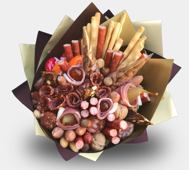 Lunch Bunch offers a meat and cheese bouquet for Valentine's Day.