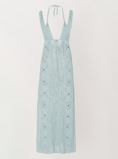 Remi Crochet-Knit Midi Dress
