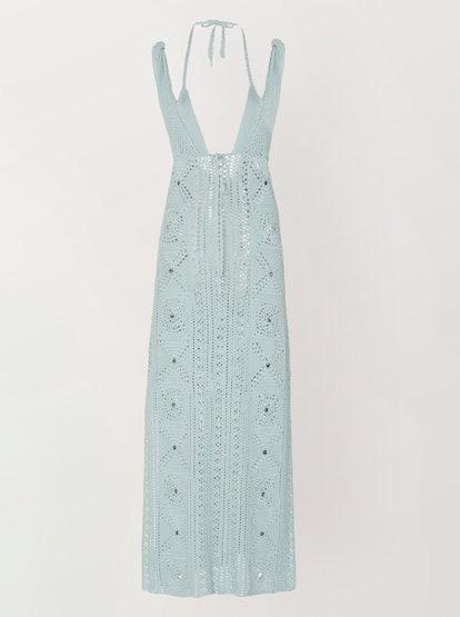 Remi Crochet-Knit Midi Dress