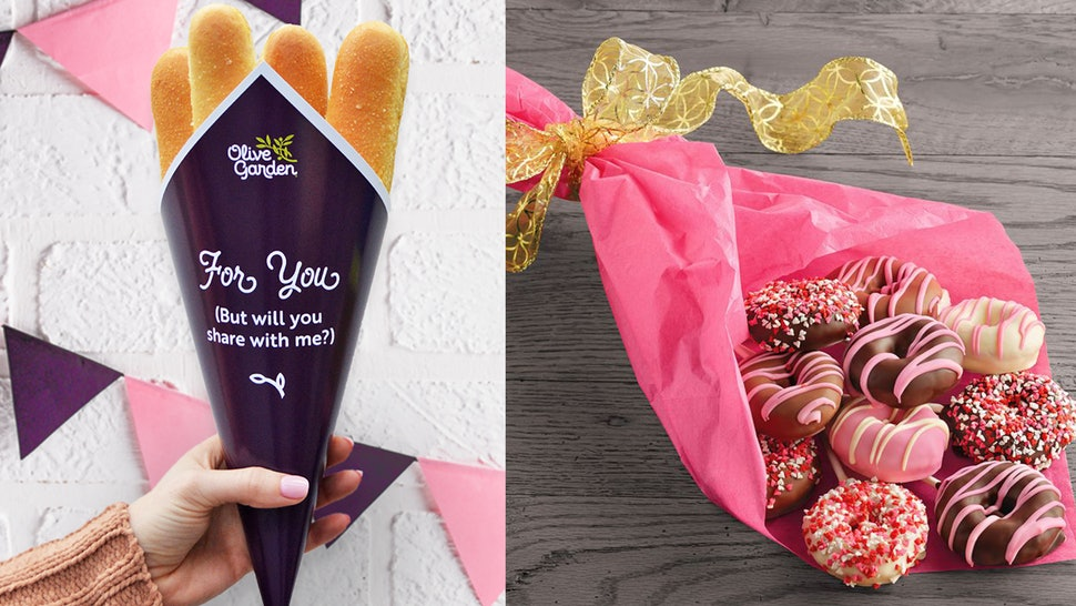 Unique food bouquets to treat the one you love on Valentine's Day.
