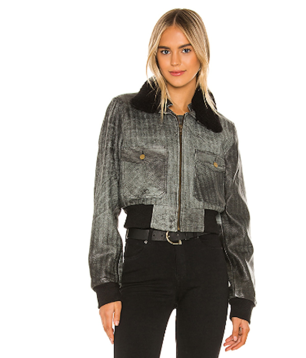 Spirit Bomber Jacket With Shearling Collar