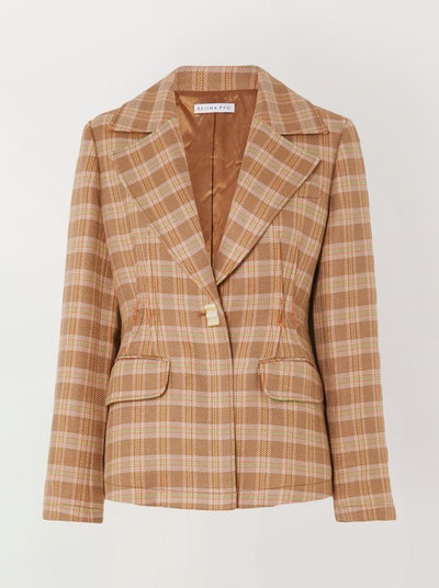 Edith Checked Tweed Blazer