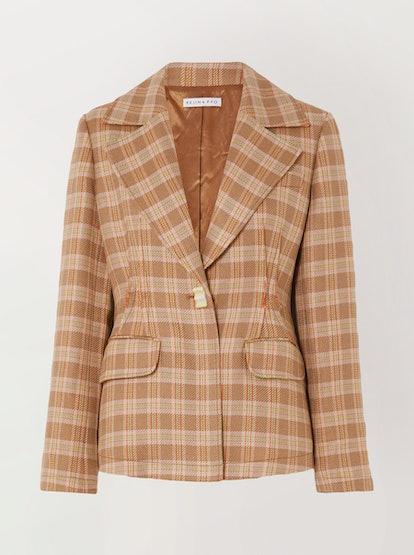 Edith Checked Tweed Blazer