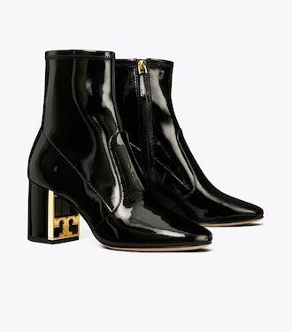 Gigi Stretch Patent Leather Bootie