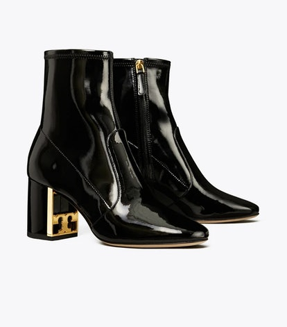Gigi Stretch Patent Leather Bootie