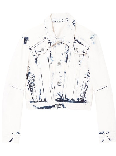 Bleached Cropped Jacket